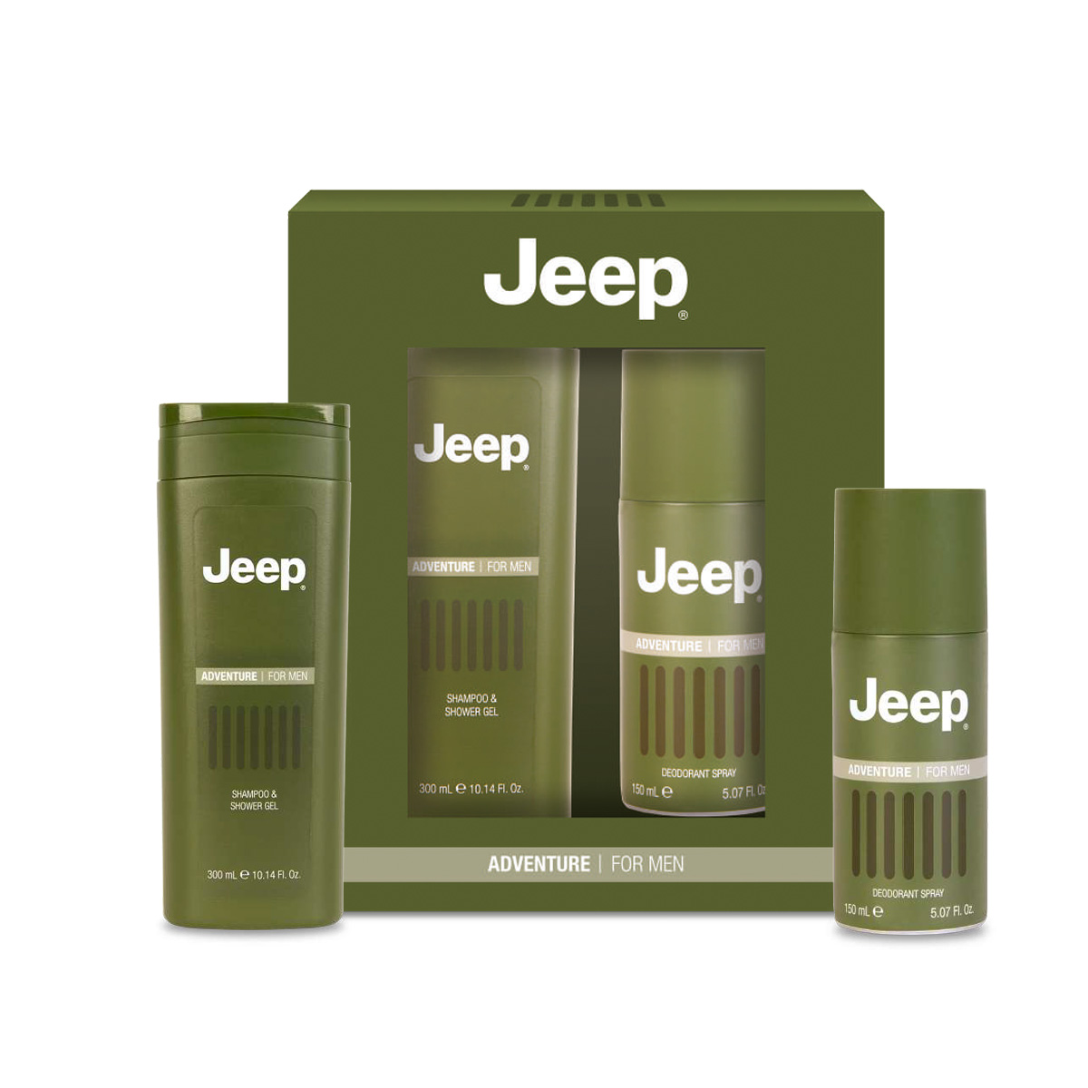 Shampoo Shower Gel e Deodorante Spray Adventure Jeep