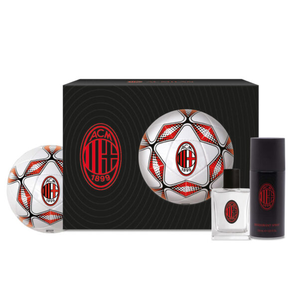 Eau de Toilette, shower Gel e pallone ufficiale Milan FC: il regalo rossonero