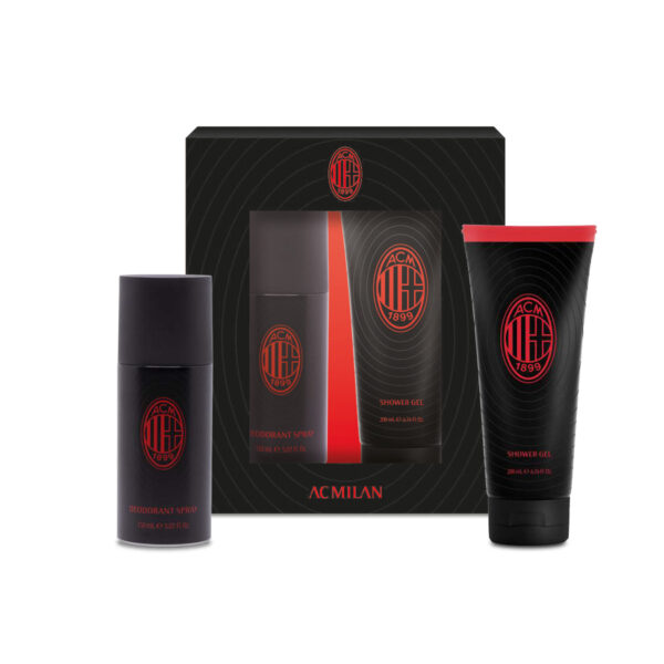 Set regalo deodorante e shower gel Milan FC