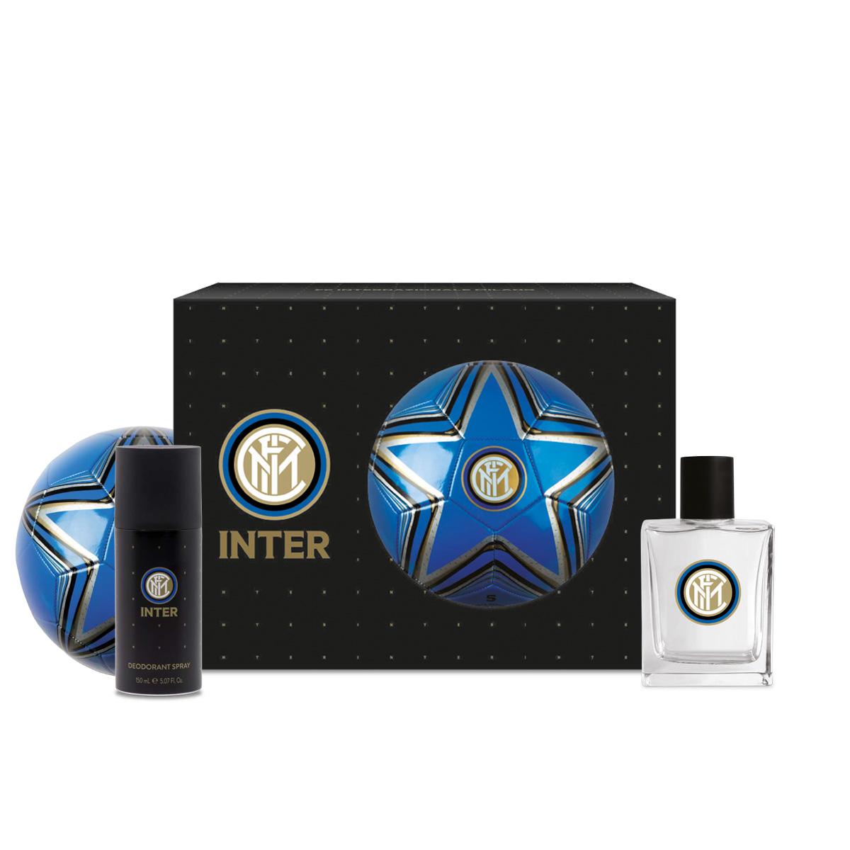 Confezione deodorante e eau de toilette Inter FC con pallone ufficiale: per il tifoso neroazzurro
