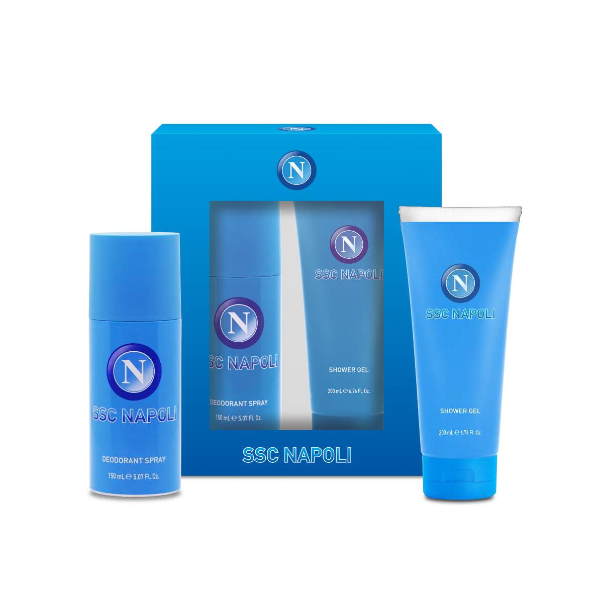 Napoli Eau de Toilette e deodorante con shower gel SSC Napoli