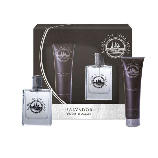 Gift set Acqua di Columbus Salvador: shower gel e eau de toilette
