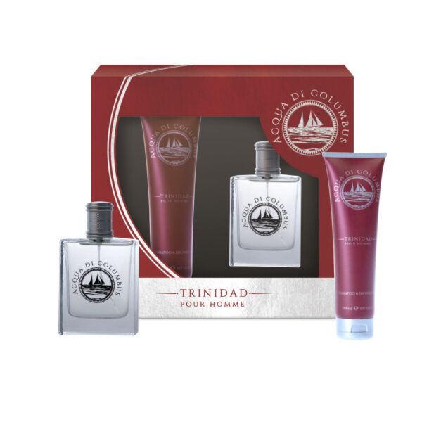 Gift set Acqua di Columbus Trinidad: shower gel e eau de toilette