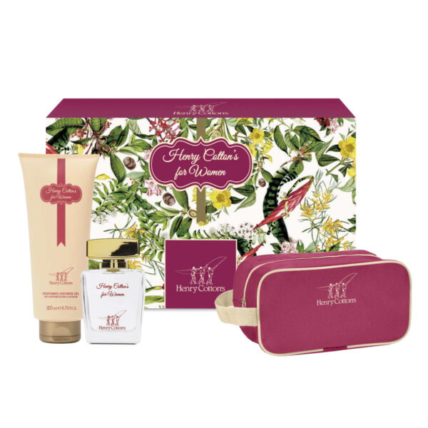 Gift set Henry Cotton's Woman: shower gel, eau de toilette e beauty case